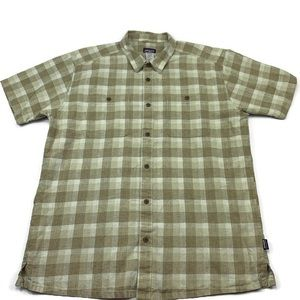 Patagonia shirt plaid short sleeve button down